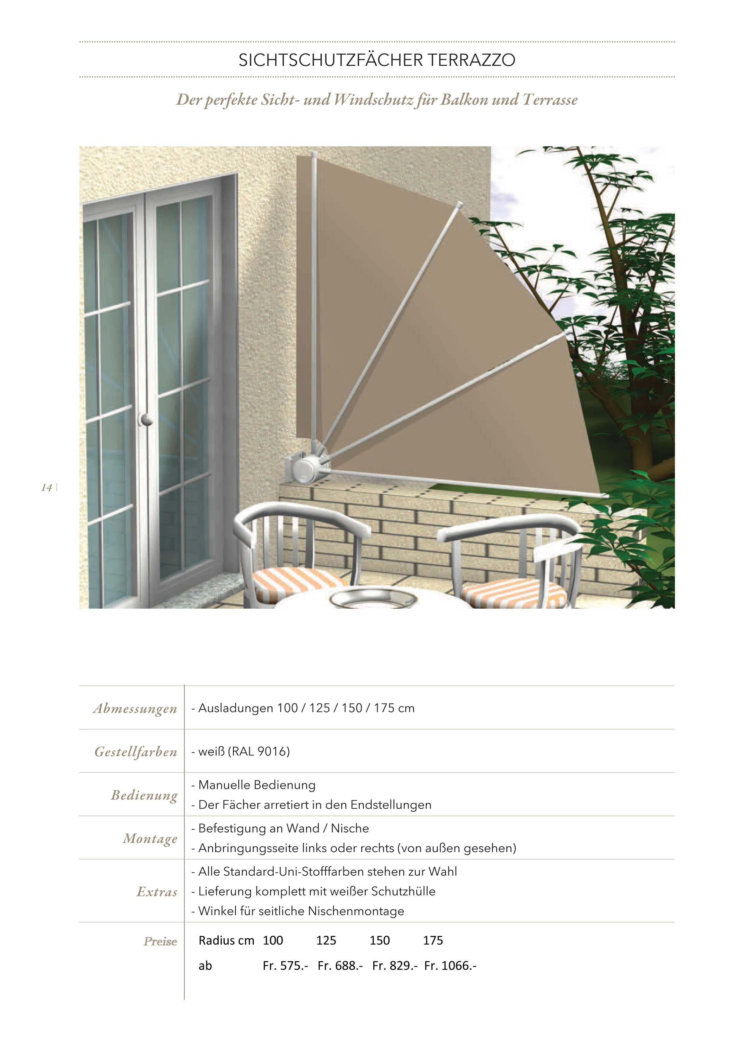Sichtschutz Sichtschutzfacher Hobi Wohnschreinerei Ag